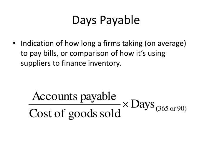 Days Payable
