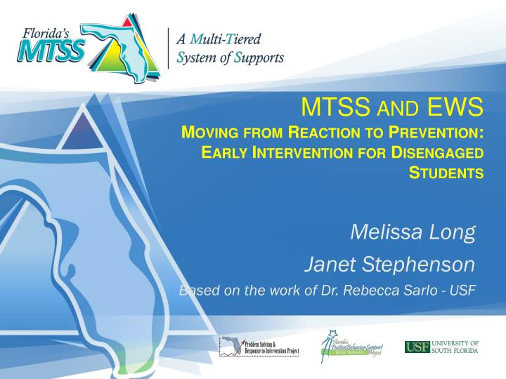 mtss and ews moving from reaction to prevention early intervention for disengaged students n.