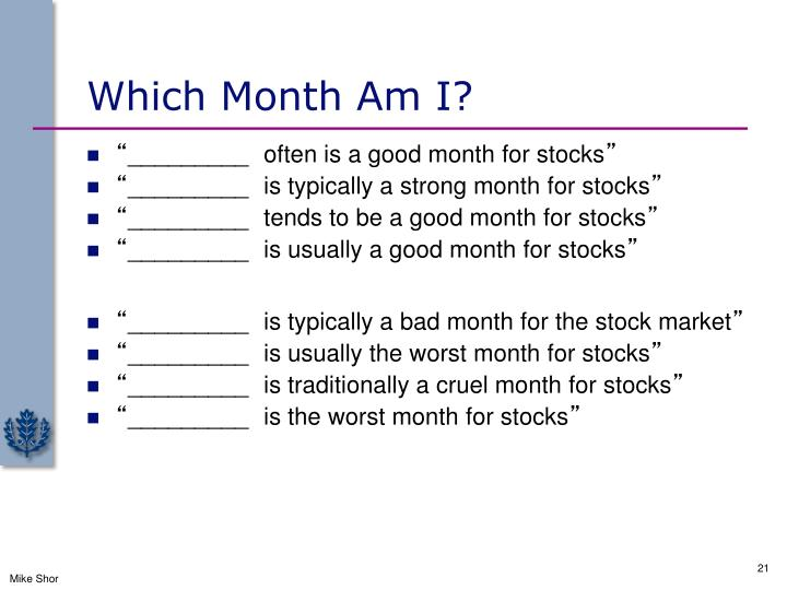 Which Month Am I?