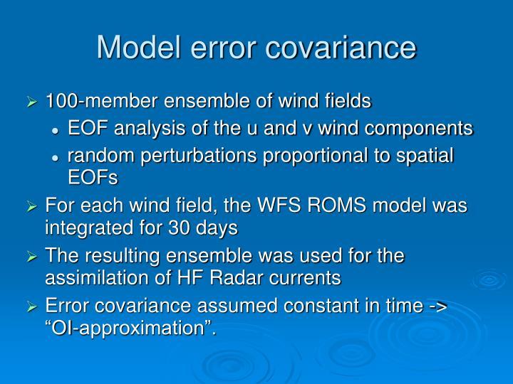 Model error covariance