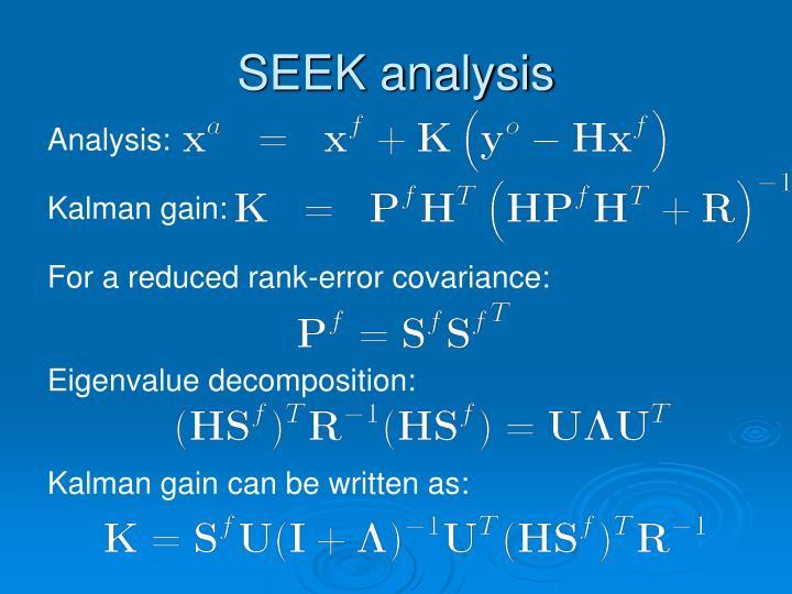 SEEK analysis