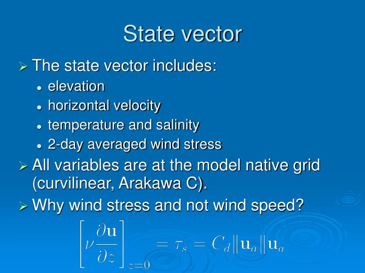 State vector