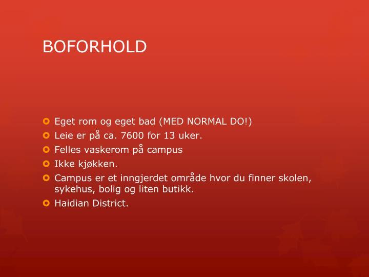 Boforhold
