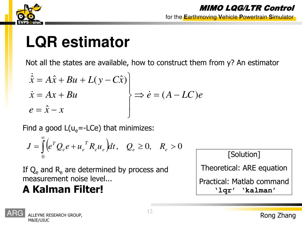 PPT - MIMO LQG/LTR Control PowerPoint Presentation - ID:7013991