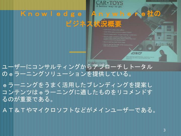 Knowledge Anywhere社の