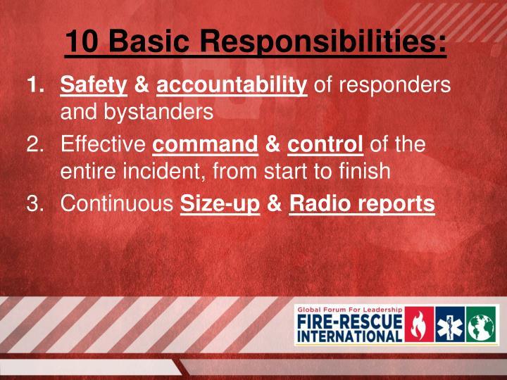 10 Basic Responsibilities: