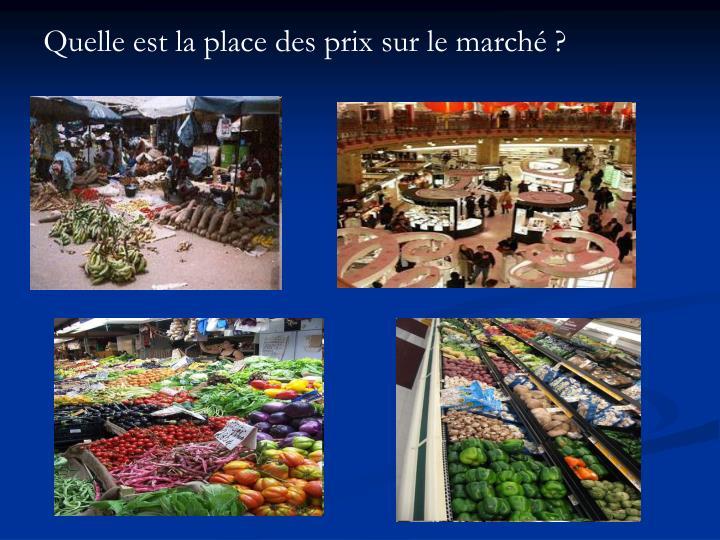 Quelle est la place des prix sur le marché ?