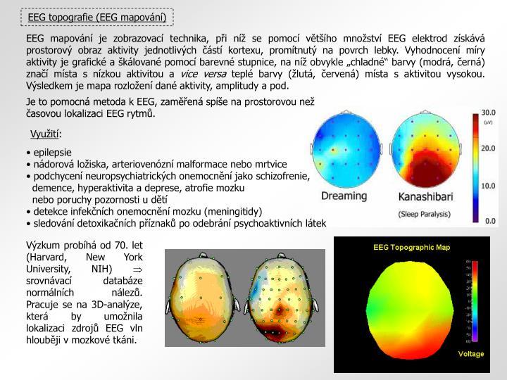 EEG topografie (EEG mapování)