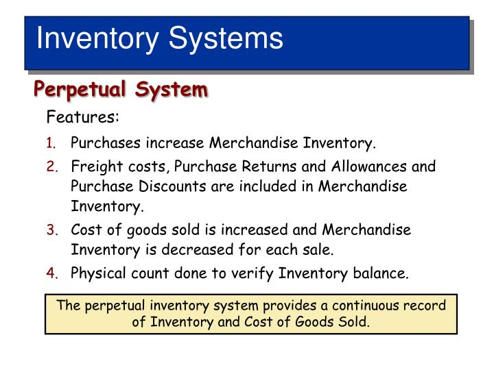 Inventory Systems