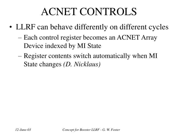 ACNET CONTROLS