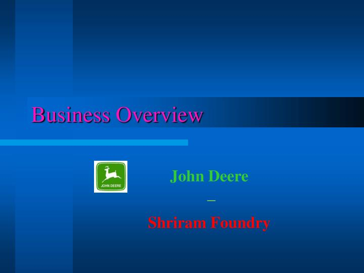 business overview n.