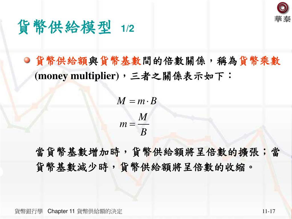 PPT - Chapter 11 貨幣供給額的決定PowerPoint Presentation, free ...