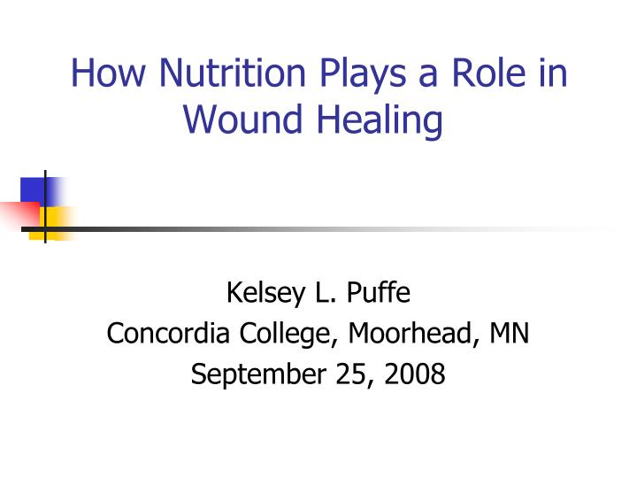 how nutrition plays a role in wound healing n.