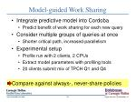 model guided work sharing