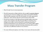 mass transfer program