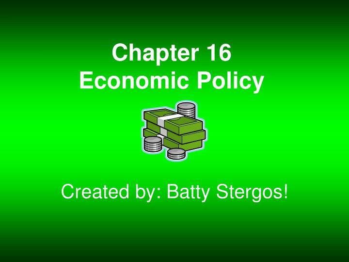 chapter 16 economic policy n.