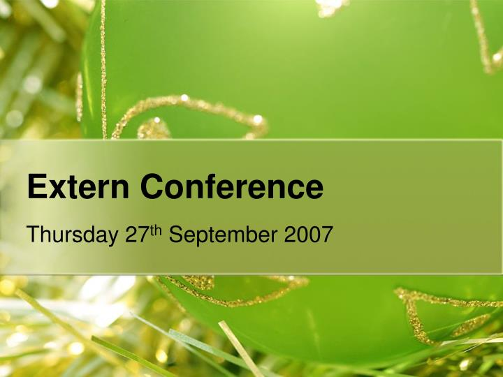 extern conference n.