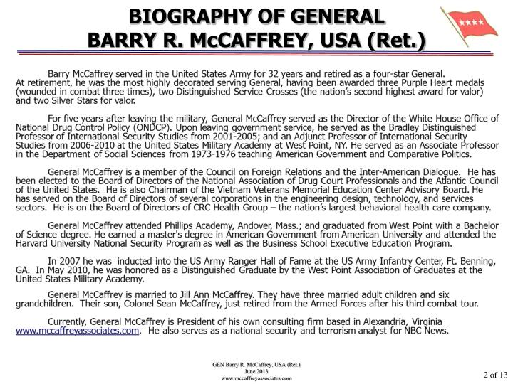 BIOGRAPHY OF GENERAL