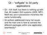 qt softgate to 3d party applications