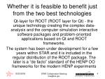 whether it is feasible to benefit just from the two best technologies