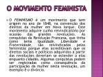 o movimento feminista