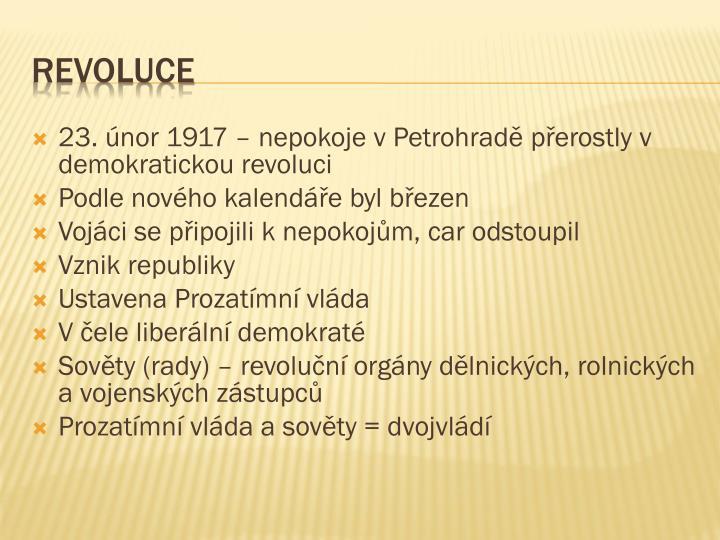 23. únor 1917 – nepokoje v Petrohradě přerostly v demokratickou revoluci