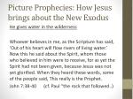 picture prophecies how jesus brings about the new exodus2