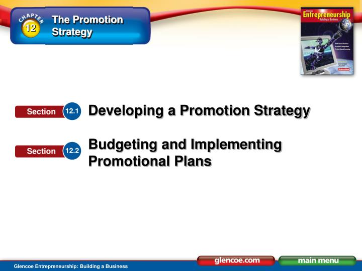 Explain the role of the promotion strategy explain how to formulate promotional plans
