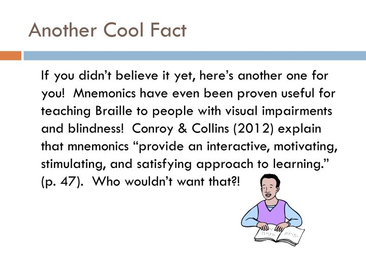 Another Cool Fact