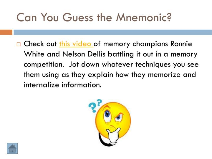 Can You Guess the Mnemonic?