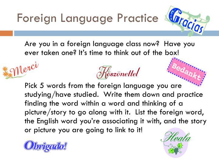 Foreign Language Practice