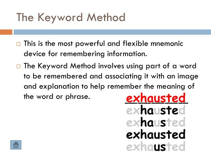 The Keyword Method