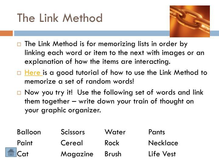 The Link Method