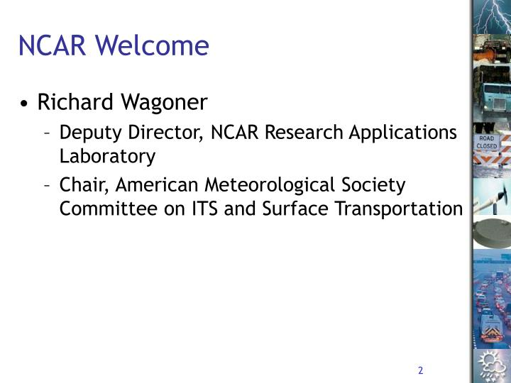 Ncar welcome