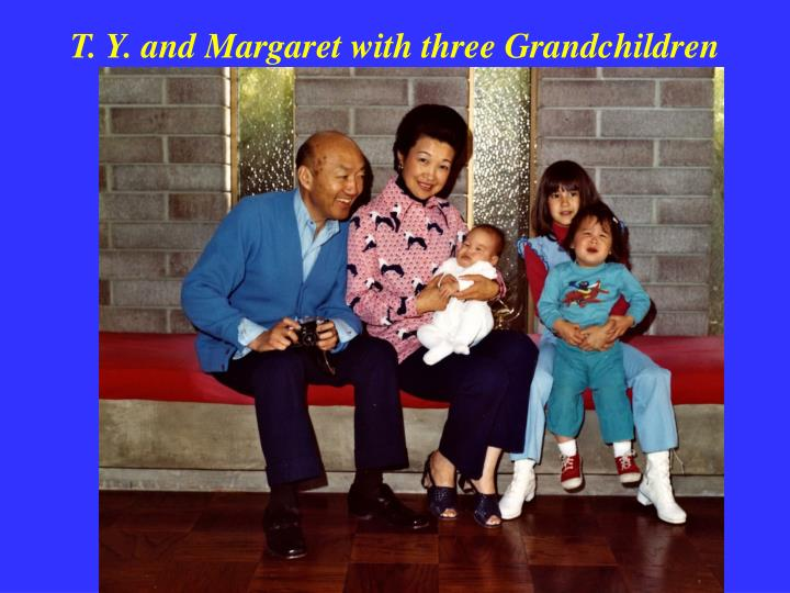 T. Y. and Margaret with three Grandchildren