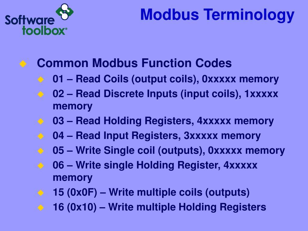 PPT - TOP Server: Understanding Modbus for Device