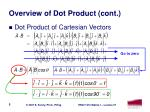 overview of dot product cont