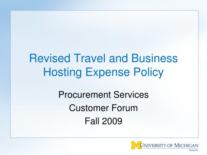 revised travel and business hosting expense policy n.