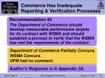 commerce has inadequate reporting verification processes1