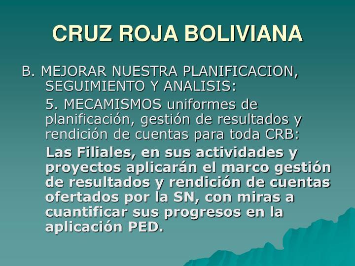 CRUZ ROJA BOLIVIANA