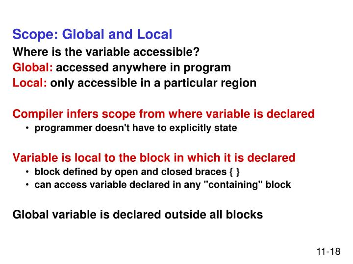 Scope: Global and Local