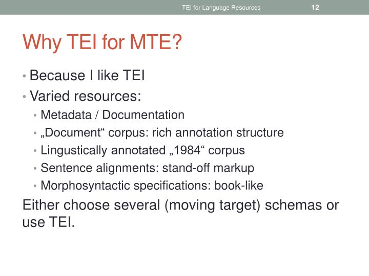 TEI for Language Resources