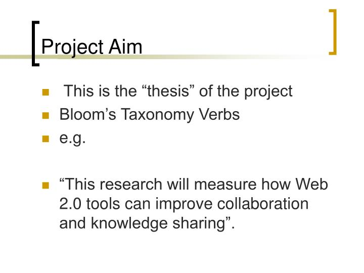 Project Aim