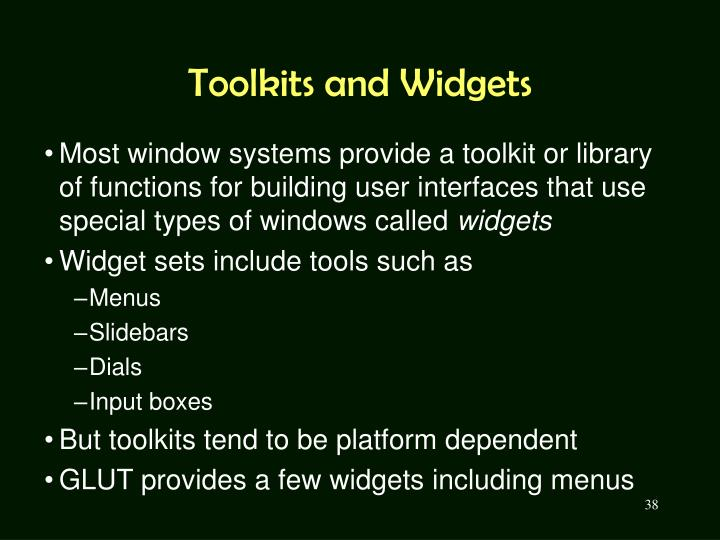 Toolkits and Widgets