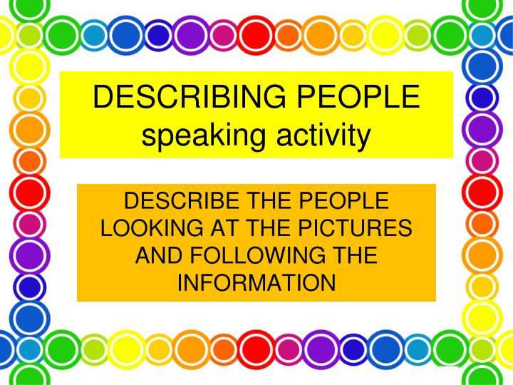 describing people speaking activity n.