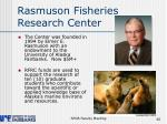 rasmuson fisheries research center