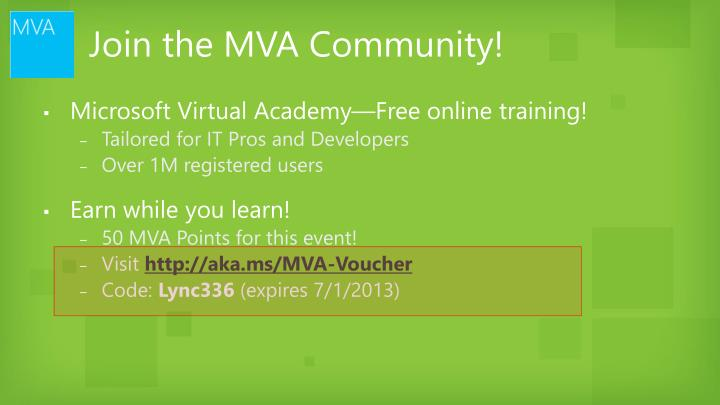 join the mva community n.