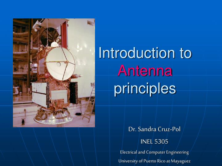 introduction to antenna principles n.