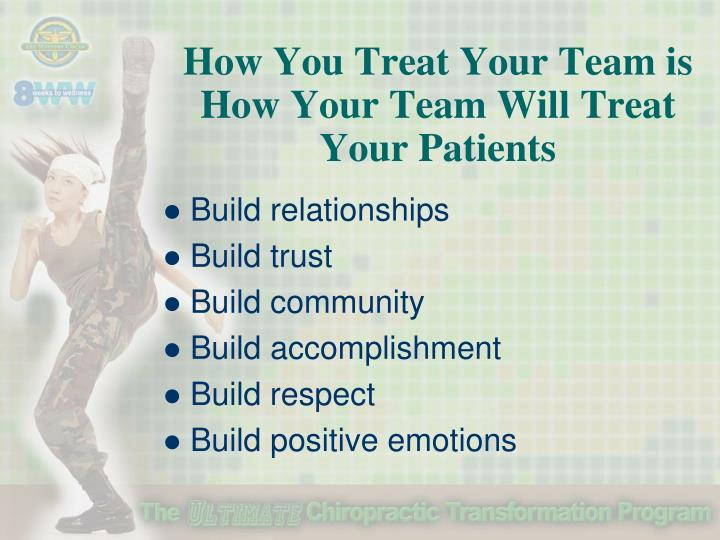 How You Treat Your Team is How Your Team Will Treat Your Patients