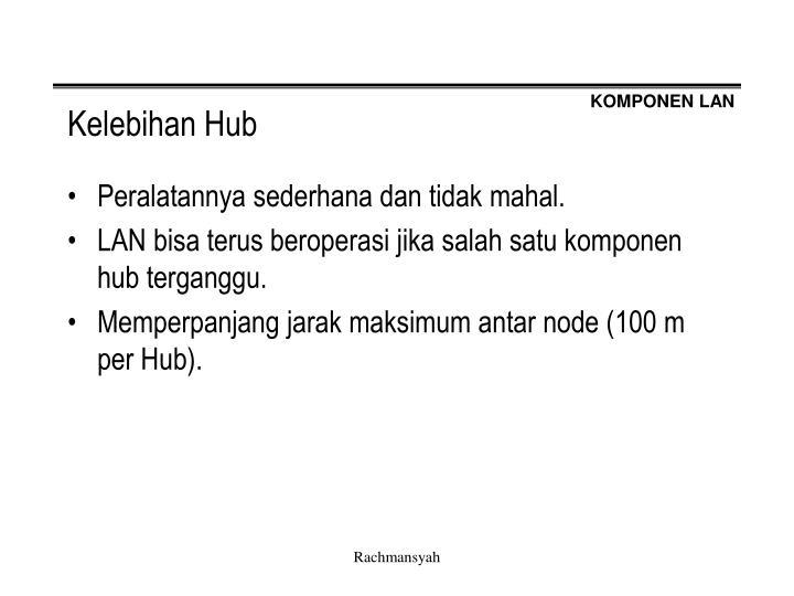 Kelebihan Hub